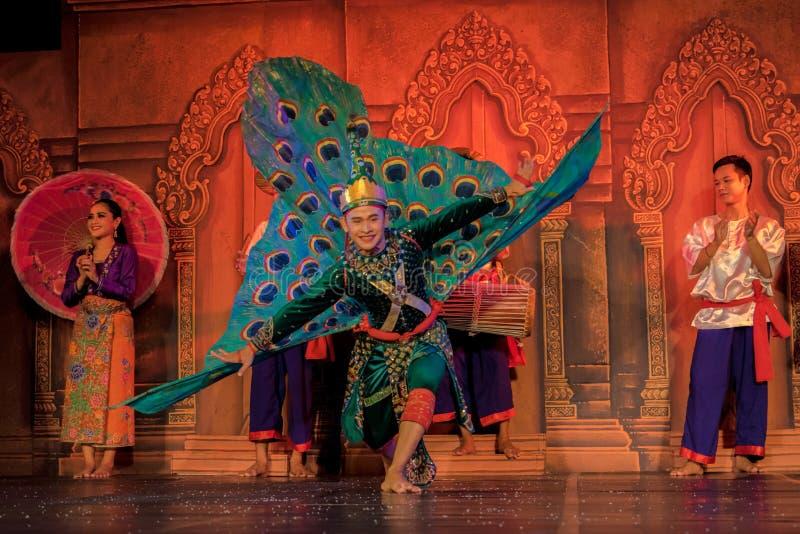 Danse traditionnelle au Cambodge image stock