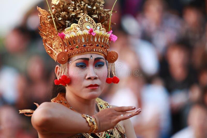 Danse traditionnelle de Balinese photos libres de droits