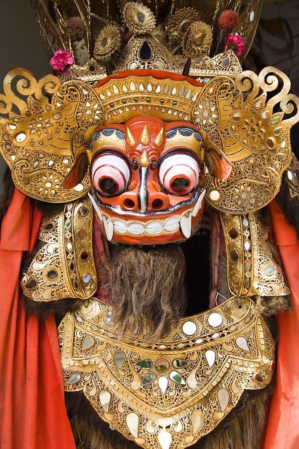 Danse traditionnelle de lion de Balinese photographie stock
