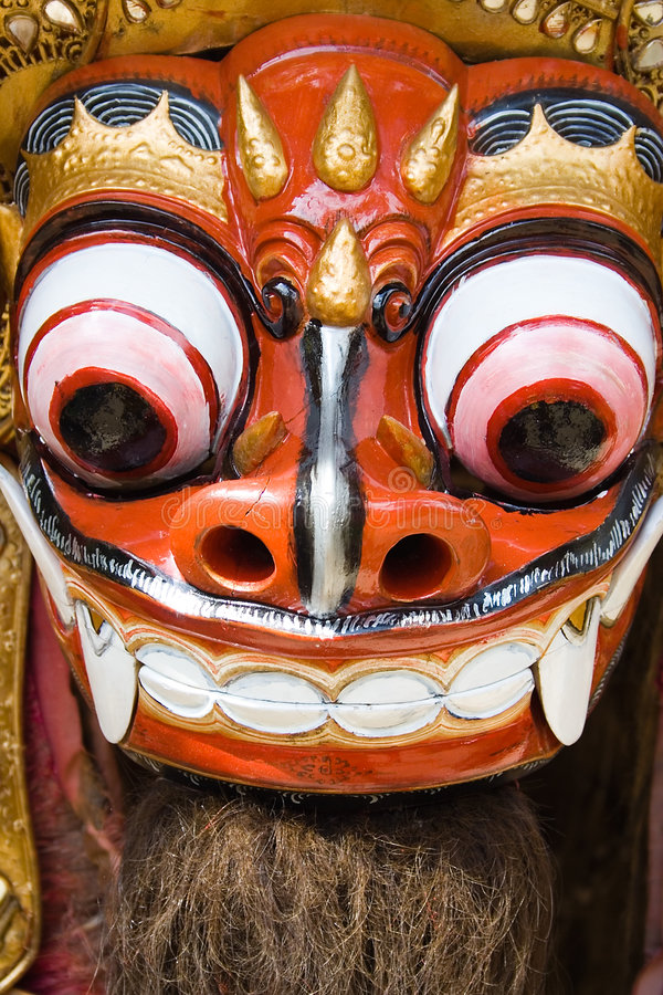 Danse traditionnelle de lion de Balinese photo libre de droits