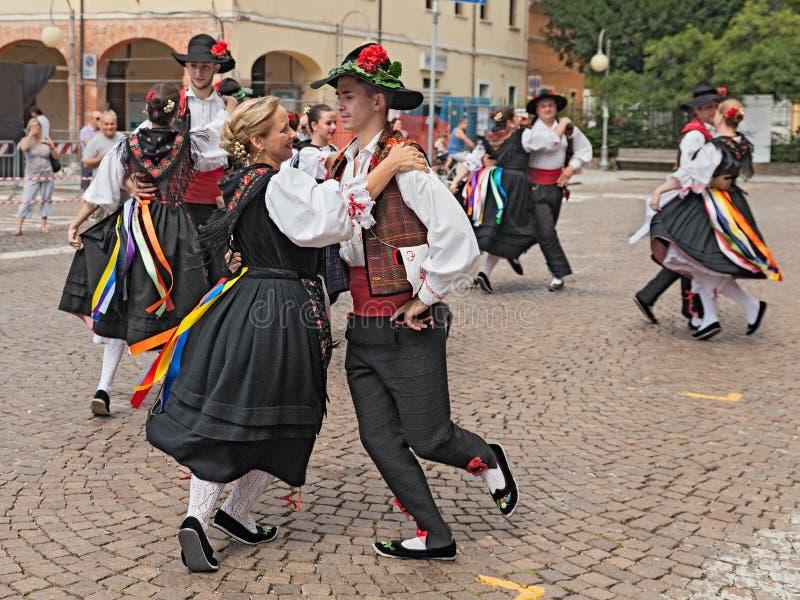 Danse traditionnelle italienne photos libres de droits
