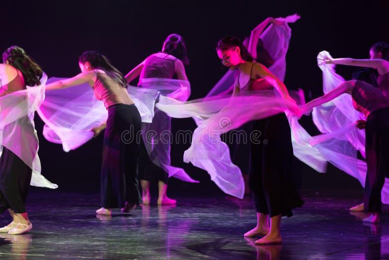Danse transparente 6 d'écharpe--Âne de drame de danse obtenir l'eau images libres de droits