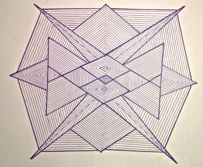 Danse von Dreiecken stockbild