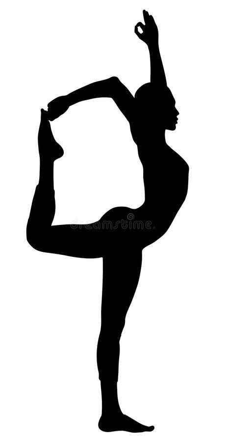 dansen poserar yoga vektor illustrationer