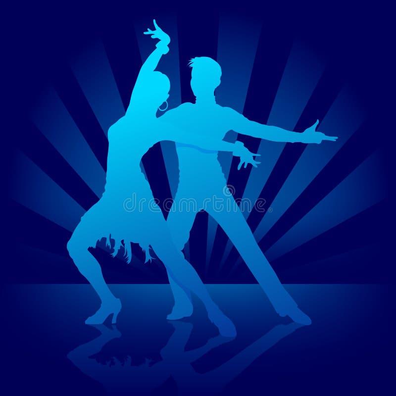 dansen rumba royaltyfri illustrationer