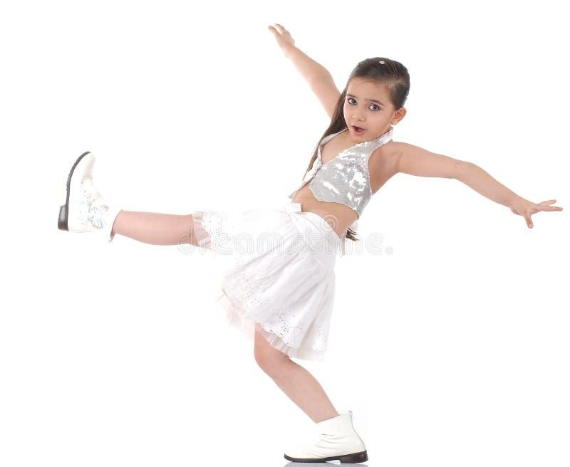 Dansend babymeisje stock afbeelding