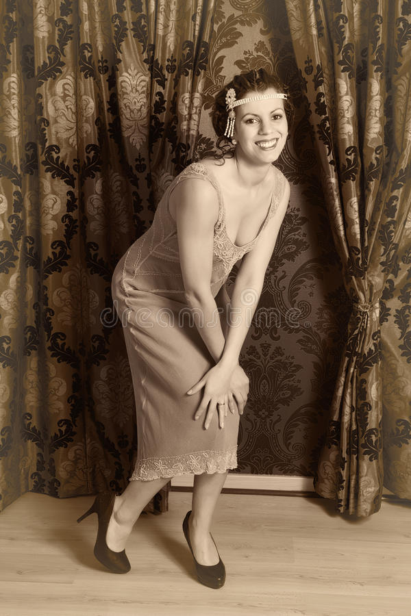 Dansend Charleston royalty-vrije stock afbeelding