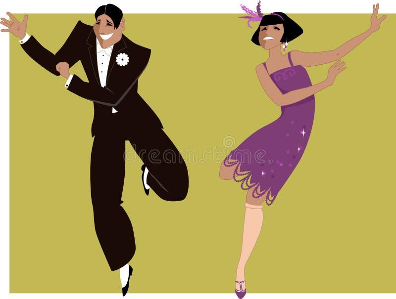 Dansend Charleston vector illustratie