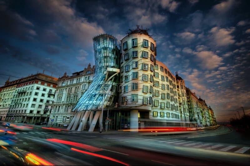 Dansend Huis, Praag stock afbeelding