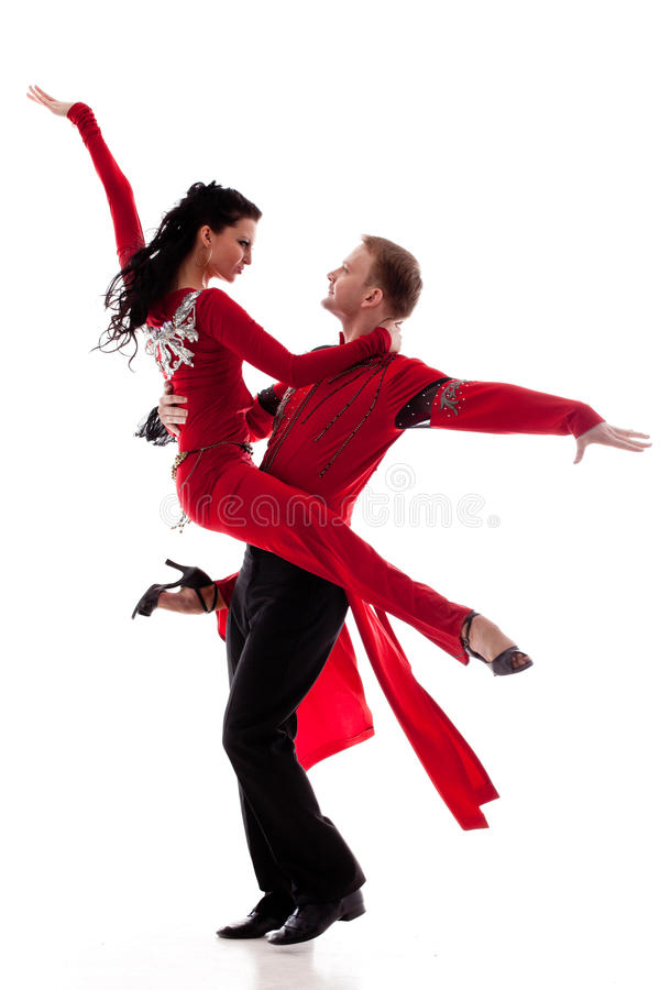 Dansend jong paar. stock afbeelding