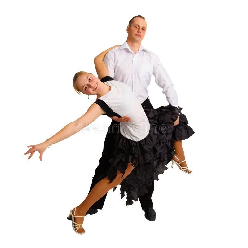 Dansend jong paar royalty-vrije stock foto's