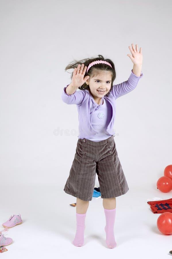 Dansend kind stock afbeelding
