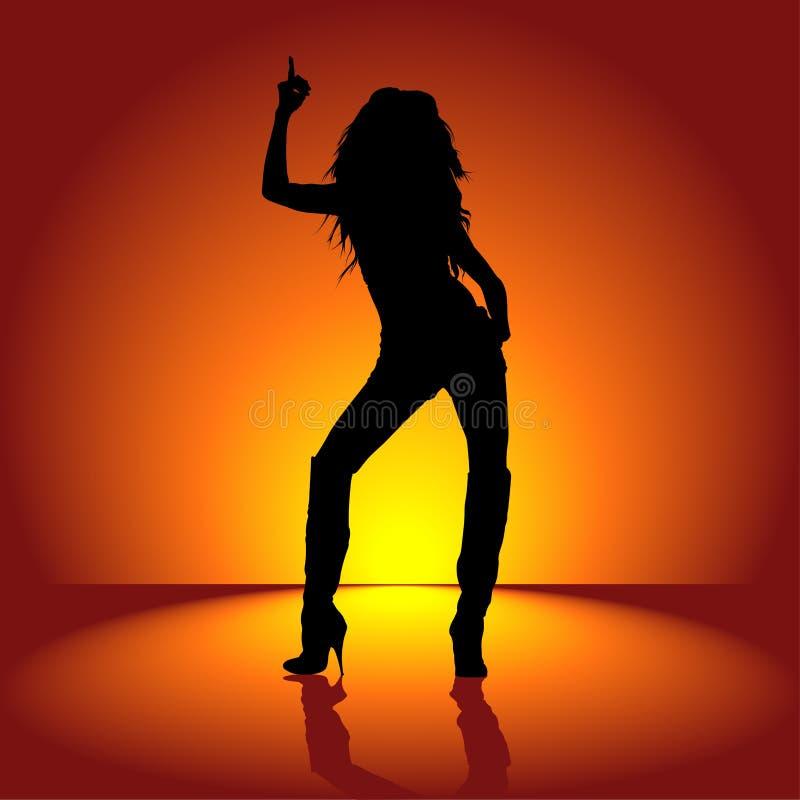 Dansend Meisje 01 stock illustratie