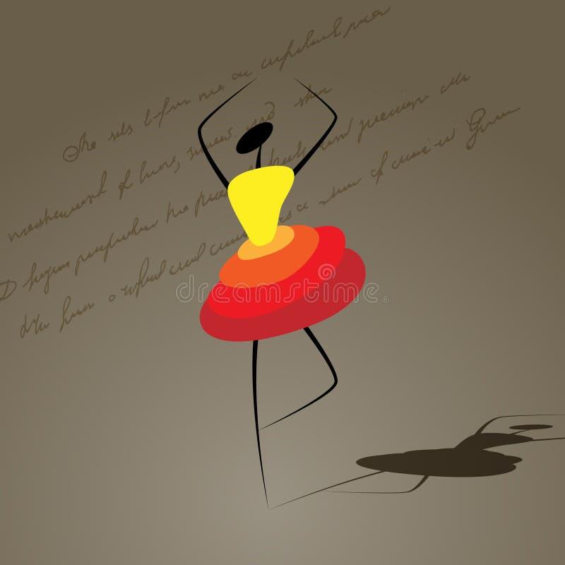 Dansend meisje vector illustratie