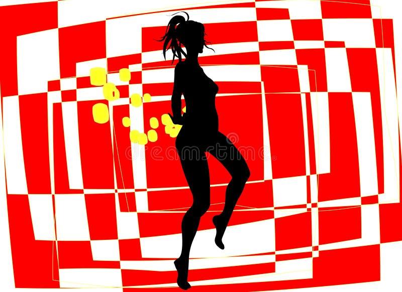 Dansend Meisje stock illustratie
