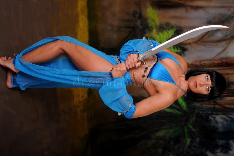 Dansend Meisje met een Zwaard royalty-vrije stock afbeelding