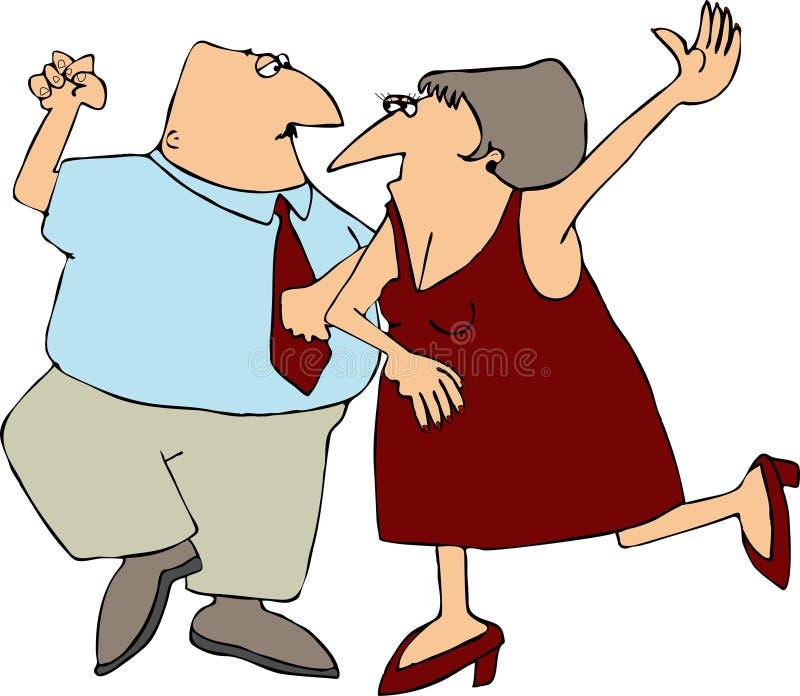Dansend Paar royalty-vrije illustratie
