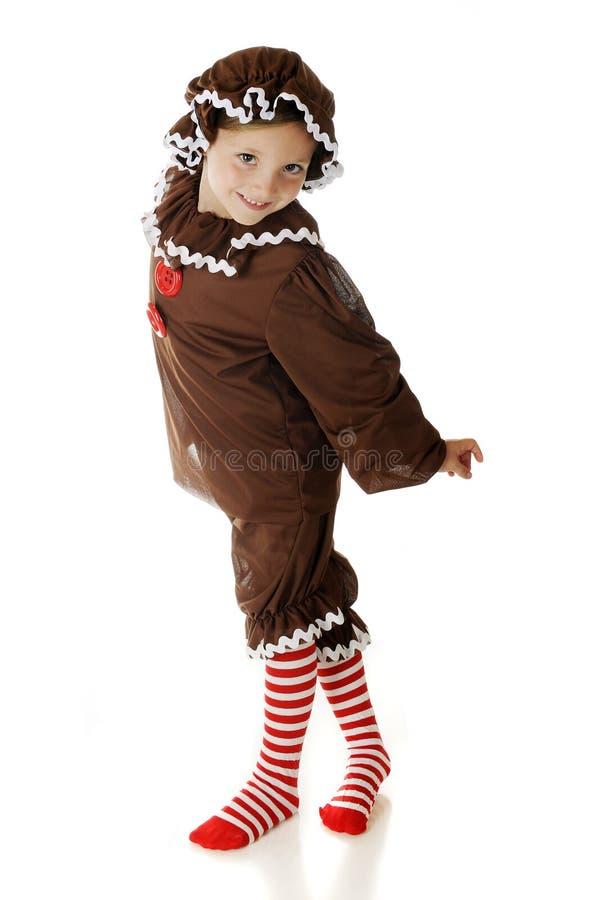 Dansend Peperkoekmeisje royalty-vrije stock afbeelding