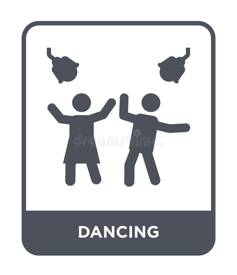 dansend pictogram in in ontwerpstijl dansend die pictogram op witte achtergrond wordt geïsoleerd dansend vectorpictogram eenvoudi vector illustratie