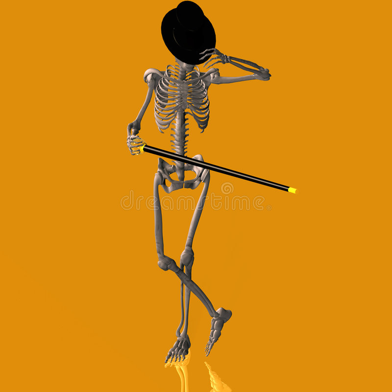 Dansend Skelet #03 vector illustratie