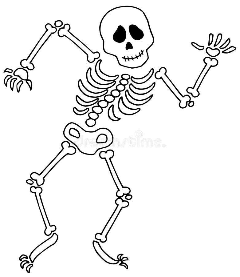Dansend skelet vector illustratie