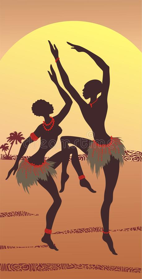 Dansende Afrikanen stock illustratie
