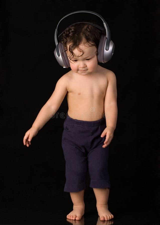 Dansende baby. stock afbeelding