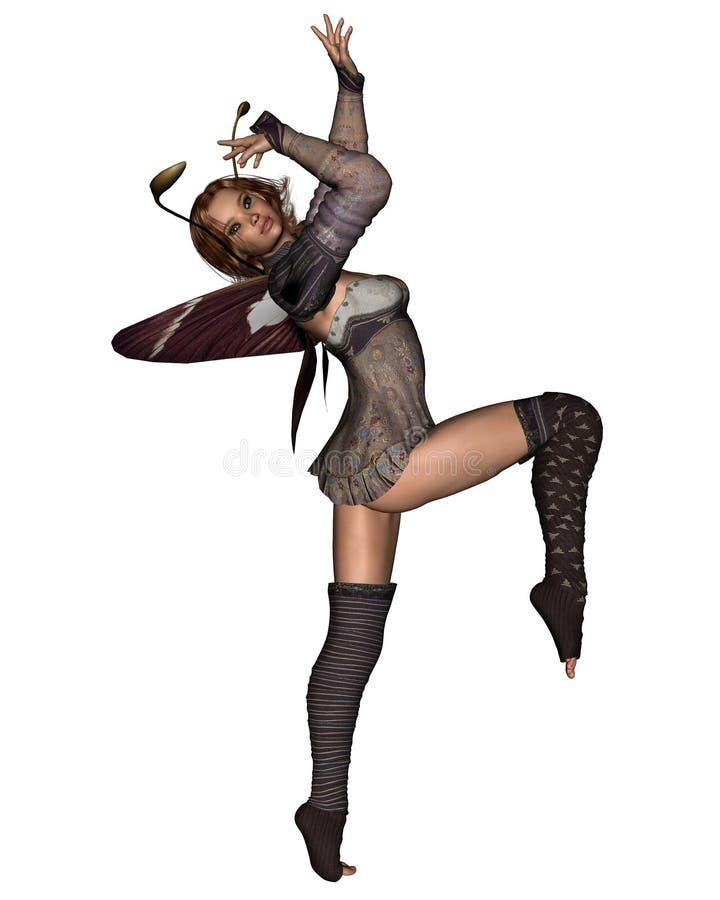 Dansende Fee - 1 vector illustratie