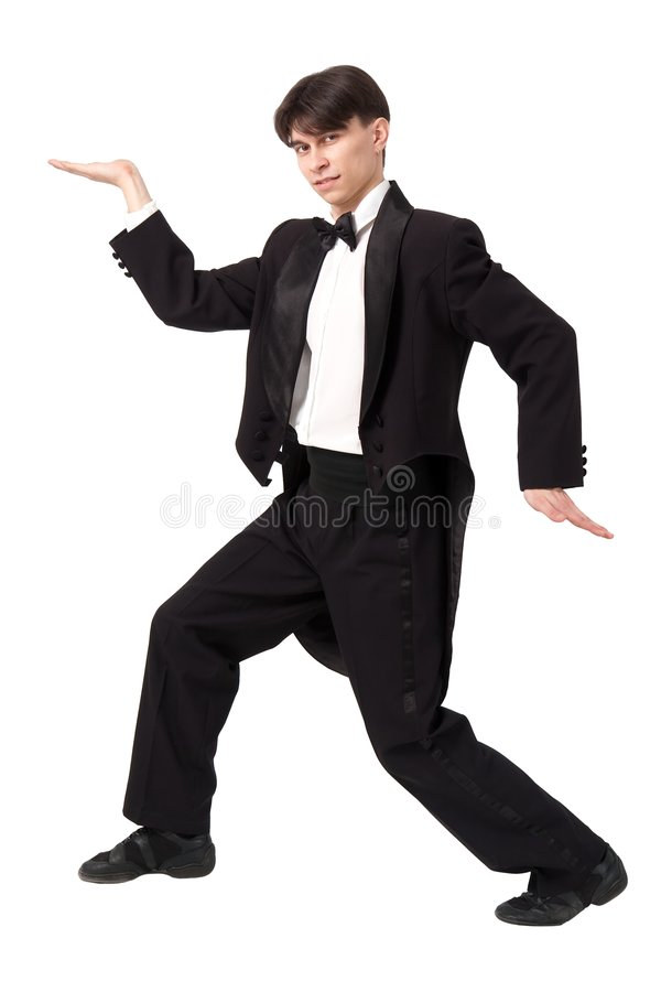 Dansende jonge heer stock foto