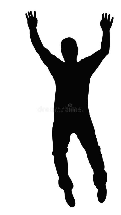Dansende Jongen die op Tenen loopt stock illustratie