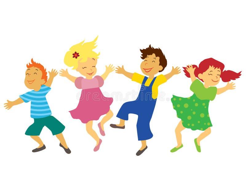 Dansende kinderen stock illustratie
