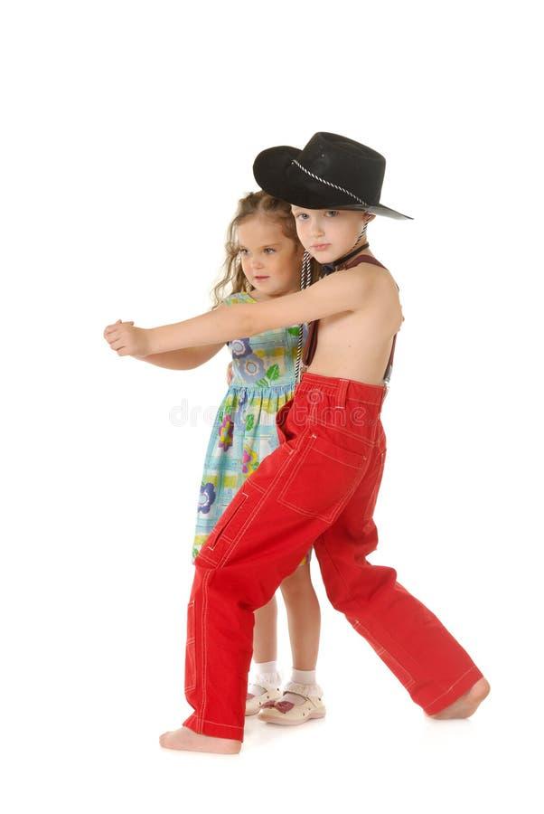 Dansende kinderen stock fotografie