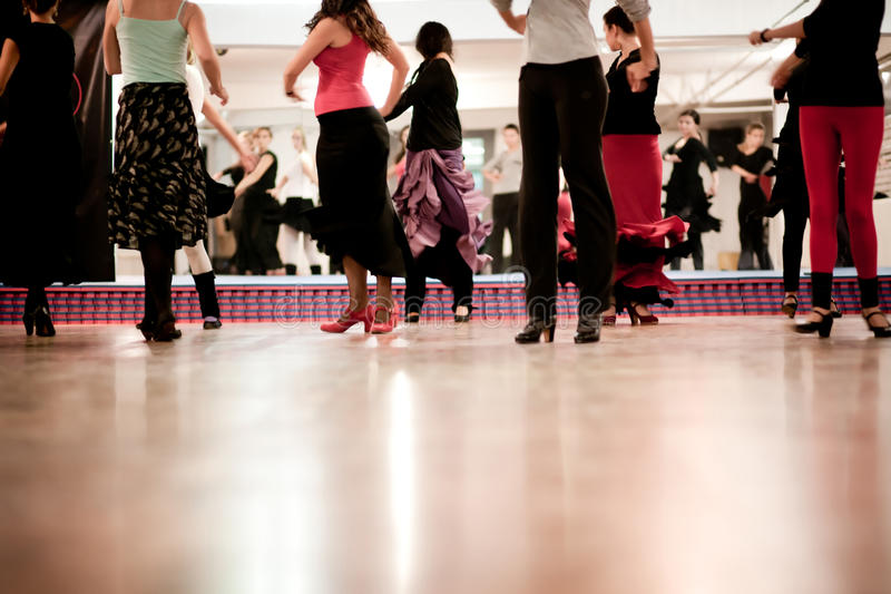 Dansende klasse royalty-vrije stock afbeelding