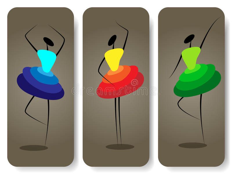 Dansende meisjes royalty-vrije illustratie