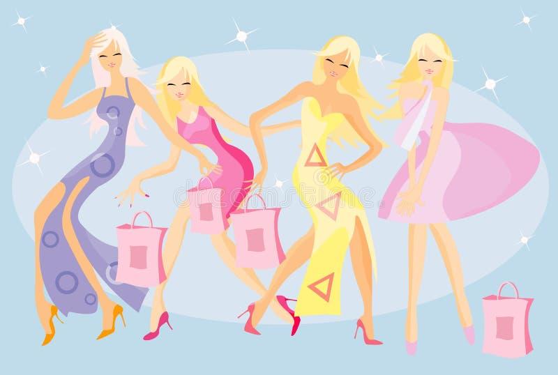 Dansende meisjes vector illustratie