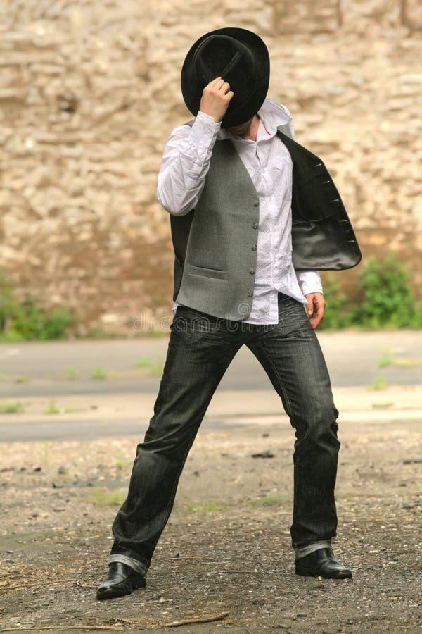 Dansende mens royalty-vrije stock foto