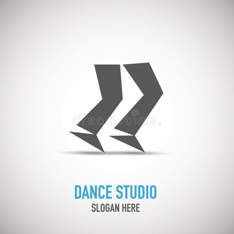 Dansende mens, dansstudio logotype vector illustratie