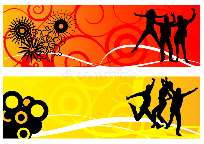 Dansende mensen royalty-vrije illustratie