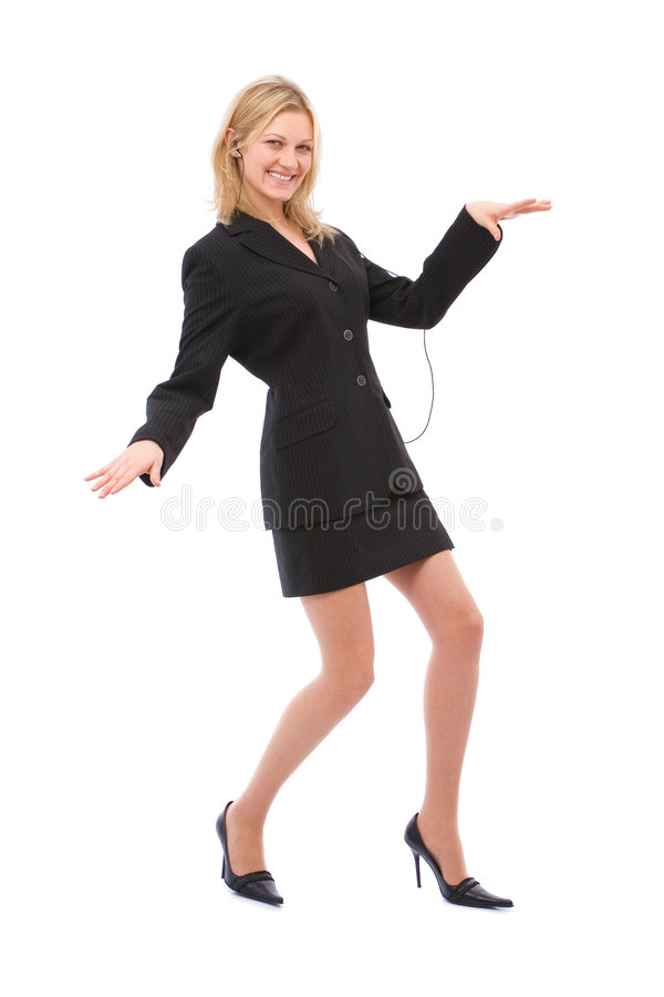 Dansende onderneemster stock foto's