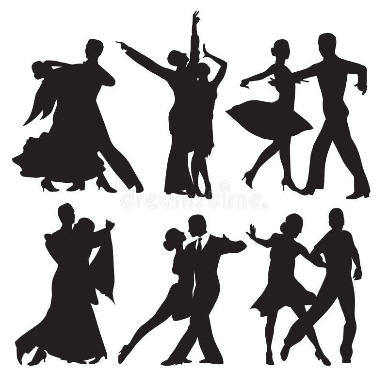Dansende paren vector illustratie