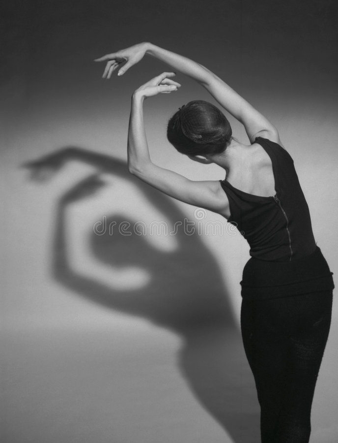 Dansende schaduwen stock foto's