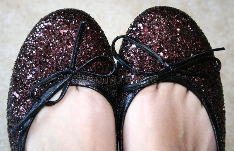 Dansende schoenen stock foto