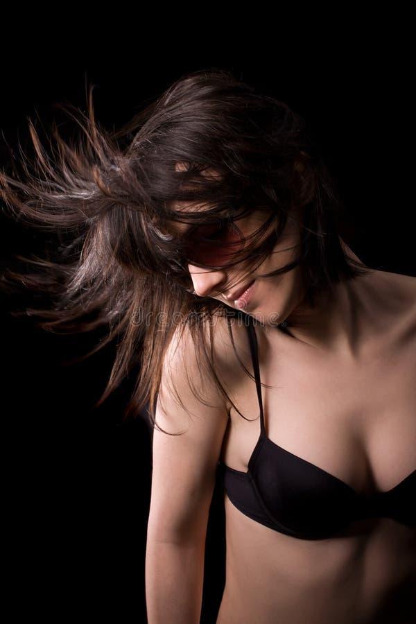 Dansende sexy vrouw stock foto's