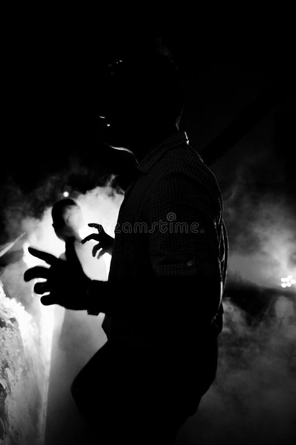 Dansende silhouetten royalty-vrije stock afbeelding
