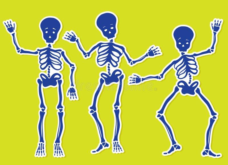 Dansende Skeletten stock illustratie