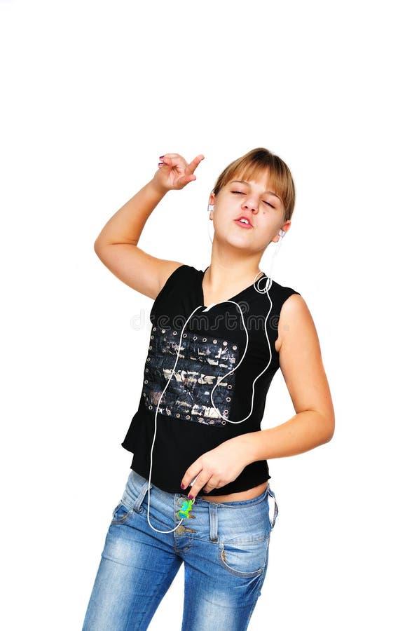 Dansende tiener stock foto's