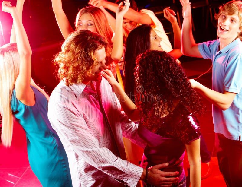 Dansende vrienden royalty-vrije stock foto's