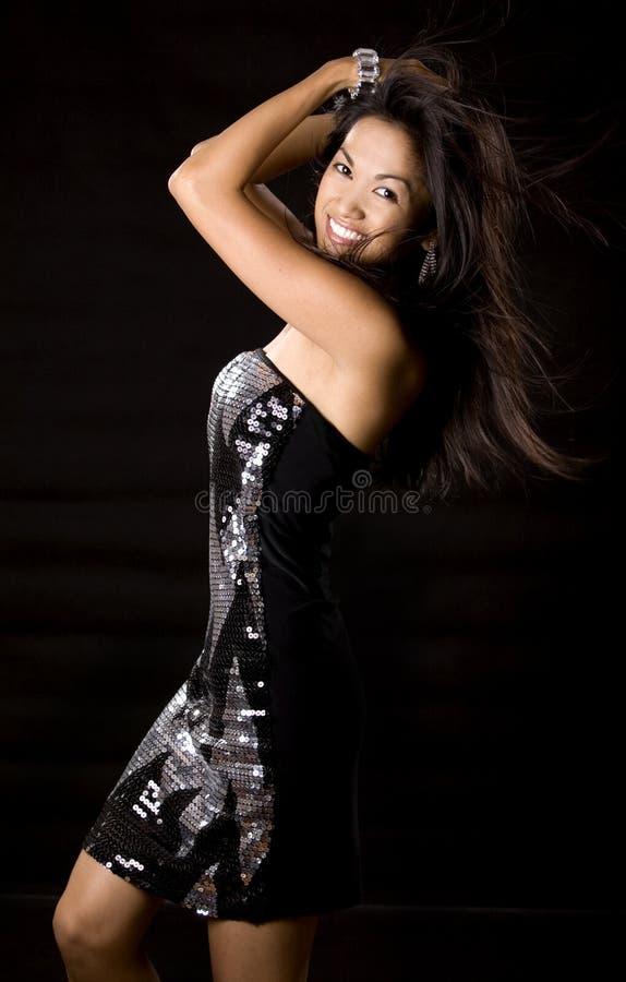 Dansende vrouw stock afbeeldingen