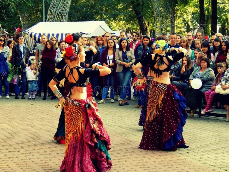 Dansende Zigeuners royalty-vrije stock fotografie