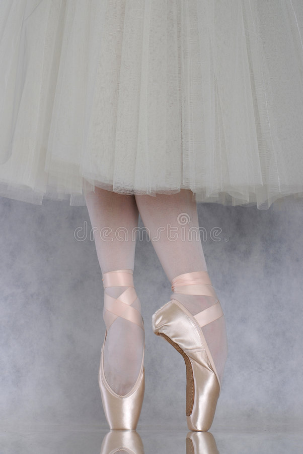 Danser in ballet pointe royalty-vrije stock foto's